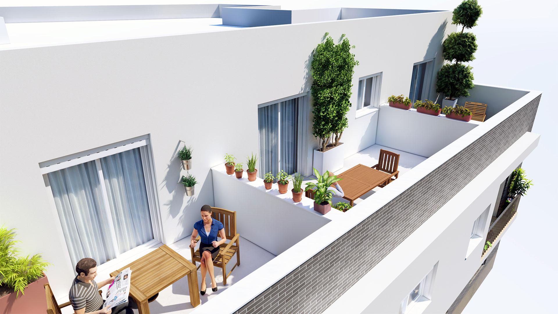 Terrazas - Residencial Vicente Alanís - Sevilla
