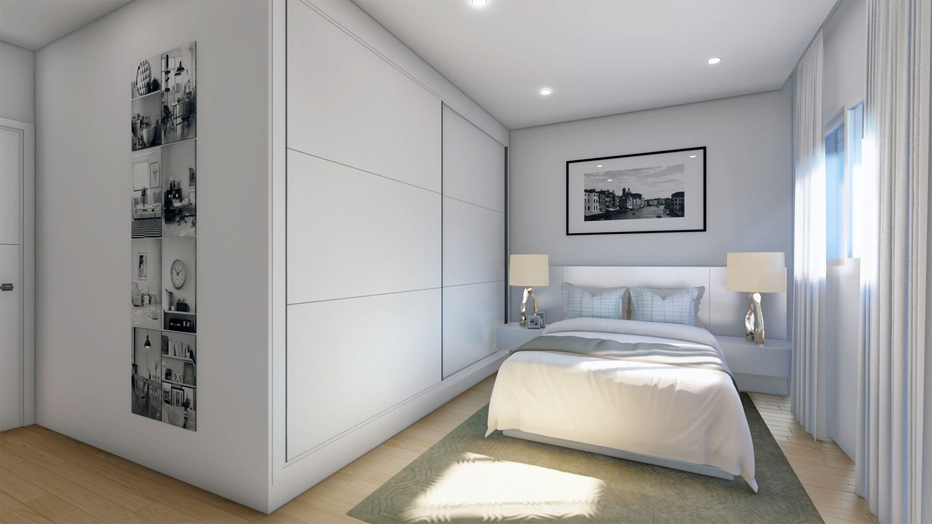 Dormitorio principal 1ª A - Residencial Vicente Alanís